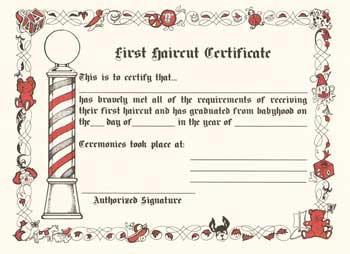 my first haircut certificate template - first haircut certificate atlanta barber and beauty supply
