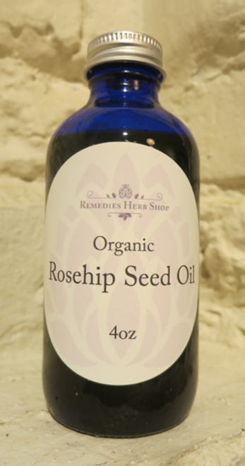 Organic Rosehip Seed Oil, unrefined - 4oz