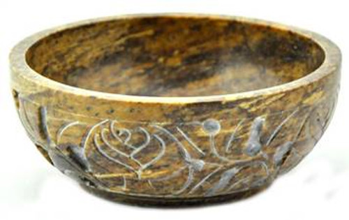 Carved Soapstone Smudge Bowl
