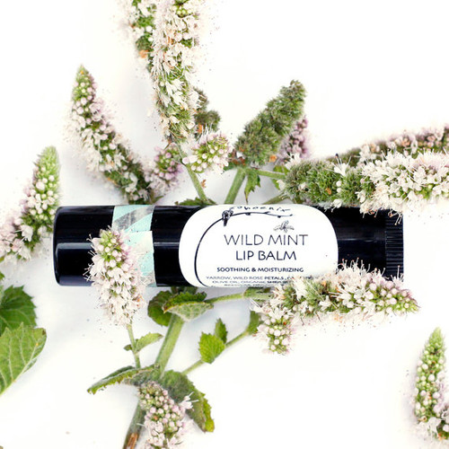 Soothing and cooling wild mint lip balm
