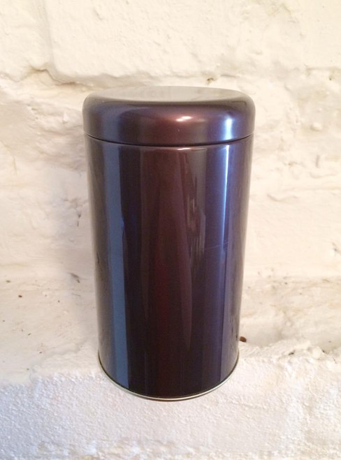 Round Tea Tin, malbec