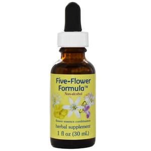 Bach Five-Flower formula in glycerine - 1 oz. dropper