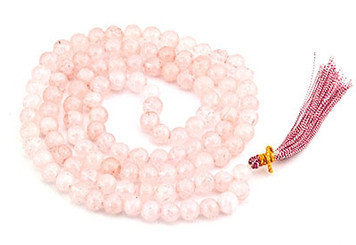 ROSE QUARTZ PRAYER MALA
