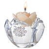 Italian 24% Crystal Tealight Candle Holder with Brooch