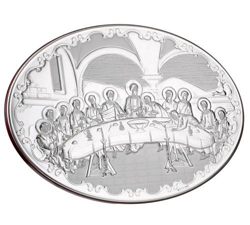 Italian 925 Silver argento Last Supper Plaque