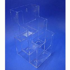 Acrylic 3-Tier Tri-Fold Brochure Holder