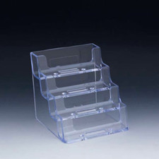 Styrene 4-Tier Business Card Holder