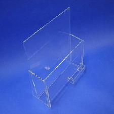 Acrylic Brochure Holder with Business Card Holder