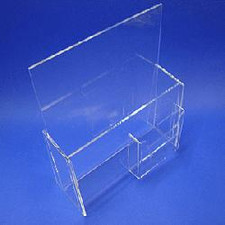 Acrylic Brochure Holder with Front Pocket