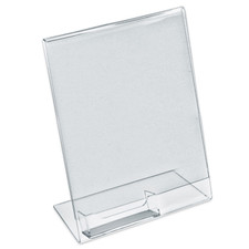 Angled Sign Holder with Business Card Holder