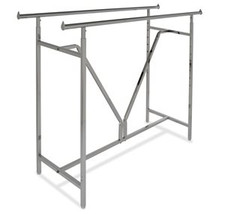 Extra Heavy Duty Adjustable Double-Bar Rack