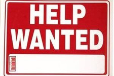 """9"""" x 12"""" """"HELP WANTED"""" Sign"""