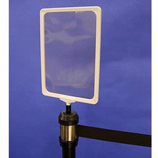 Sign Holder for Retractable Stanchion