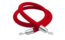 Crowd Control Rope in Red Velvet