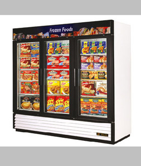 NEW 3 DOOR GLASS DOOR FREEZER