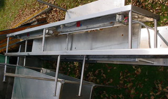 114in STAINLESS STEEL DOUBLE OVERSHELF