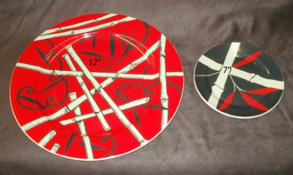 LARGE 12'' PLATES - BAMBOO THEME