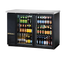 """New-Back Bar Cooler, two-section, 24"""" deep, 35-7/8"""" high, (48) 6-packs or (2) 1/2 keg capacity, (4) wire shelves, condensing unit on left, stainless steel top, galvanized interior with stainless steel floor, black vinyl exterior, (2) glass doors, LED interior light, 1/3 HP, 115v/60/1, 7.6 amps, 7' cord, NEMA 5-15P, MADE IN USA, 3 years parts and labor, 5 years compressor warranty"""