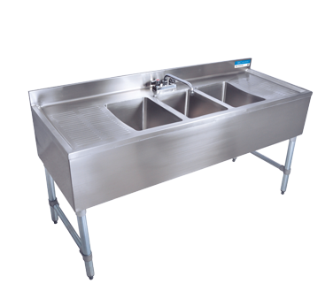 3 Bay Sink : ... Sinks - Cocktail 1,2 & 3 Bay ? UNDERBAR 3 BAY SINK WITH DOUBLE