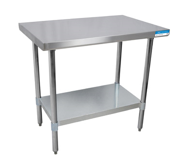 STAINLESS STEEL WORK TABLE NEW Gillette Restaurant Equipment - Stainless steel table with backsplash and sides