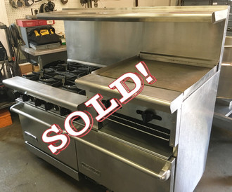 "AMERICAN RANGE AR6B-24RG 60"" RANGE WITH GRIDDLE/ BROILER"
