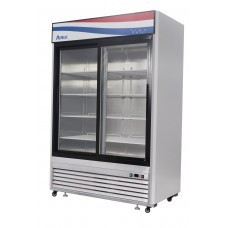 Freezer Merchandiser, two-section, self-contained refrigeration, 47.1 cu. ft. capacity, -8° to -0°F temperature range, (2) locking hinged glass doors, (8) adjustable shelves, ventilated refrigeration, LED interior lighting, automatic evaporation, digital temperature control, electric defrost, stainless steel interior & exterior, galvanized steel back, bottom mounted refrigeration, 950 watts, 115v/60/1-ph, 9.6 amps, 3/4 HP, cETLus, ETL, CE, ENERGY STAR®