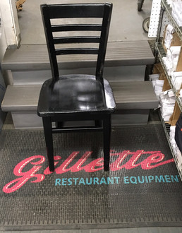 CAFE STYLE LADDER BACK CHAIR