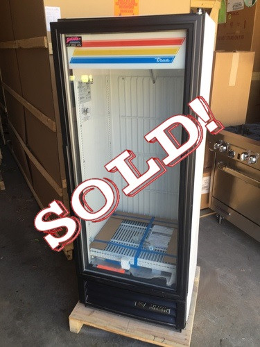 "Freezer Merchandiser, one-section, -10° F, (3) shelves, laminated vinyl exterior, white interior with stainless steel floor, (1) triple-pane thermal glass hinged door, LED interior lights, 1/3 HP, 115v/60/1, 7.4 amps, cord, NEMA 5-15P, (depth does not include 1"" for rear bumpers), cULus, CE, NSF, MADE IN USA"