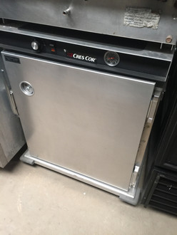 """Cabinet, Mobile Heated, half-height, insulated, universal slides for 12"""" x 20"""" thru 18"""" x 26"""" pans, capacity 8 sets, anti-microbial latches, analog thermometer, aluminum construction, (4) heavy duty 5"""" swivel casters (2) braked, cCSAus, CSA"""
