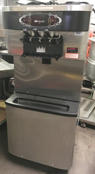 Crown® Series Soft Serve Freezer, floor model, self-contained, twist, (2) 20qt. hoppers, (2) 3.4qt. freezing cylinders, indicator lights, touch screen controls, standby, stainless steel finish, R404A, (2) 1-1/2 HP motor, NSF, cULus listed