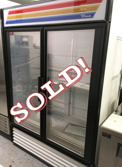 GDM-49F Freezer Merchandiser, two-section, -10° F, (8) shelves, laminated vinyl exterior, white interior with stainless steel floor, (2) triple-pane thermal glass hinged door, LED interior lights, R290 Hydrocarbon refrigerant, 3/4 HP, 115/208-230v/60/1, 12.3 amps, NEMA 14-20P, 9' cord, cULus, UL EPH Classified, MADE IN USA, ENERGY STAR®.  BRAND NEW COMPRESSOR INSTALLED OCTOBER 2016.  NBm.