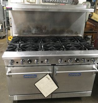 IMPERIAL IR-8 RESTAURANT RANGE 8 BURNERS