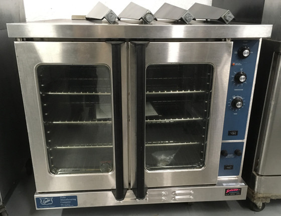 "DUKE E101-E Convection Oven, electric, single-deck, standard depth, thermostatic controls, with 26"" high legs, stainless steel front, painted cabinet, NSF, cETLus.  220/240V 1 PHASE."
