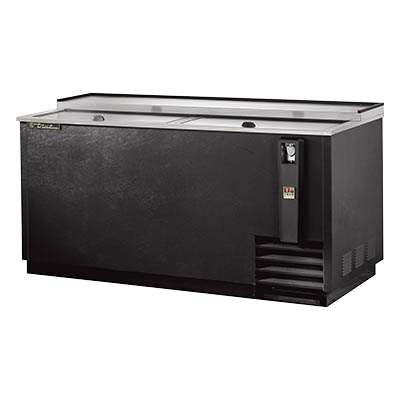 Bottle Cooler, flat top, (22cs) 12oz bottles or (32.5cs) 12oz can capacity, stainless steel counter top & (2) lids, barrel locks standard, well design, galvanized interior, black vinyl exterior, (4) PVC coated adjustable bin dividers, removable bottle cap opener & cap catcher, 1/3 HP, 115v/60/1, 8.6 amps, NEMA 5-15P, UL, CSA, UL EPH Classified, CE, MADE IN USA