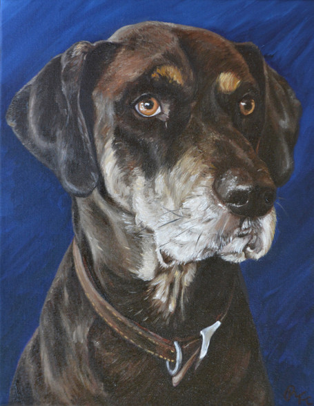 "12""  X 16"" Custom Pet Painting- One Pet, No Background"