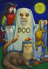 "20"" x 28"" Oil Painting -""Boo At The Zoo"""