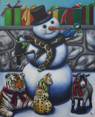 "24"" x 30"" Oil Painting -""Zoo Holiday"""