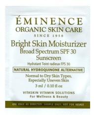 Eminence Bright Skin Moisturizer SPF 30 Trial Sample