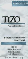 TIZO Body & Face Sunscreen SPF 40 Trial Sample (Non-Tinted)