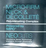 Neocutis Micro-Firm Neck & Decollette Trial Sample