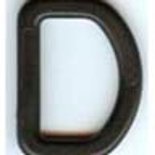 D Ring | Plastic | Black | 1.5 Inch
