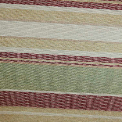 Maroon And Peak Green Stripe | 54 Inch | Upholstery / Drapery Fabric