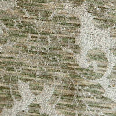 """Tan Sage Beige Plush Floral Damask Fabric Upholstery /  Drapery By The Yard 54""""W"""
