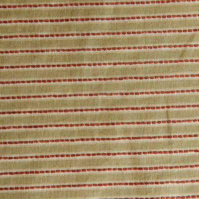 Olive With Burgundy Pinstripe Upholstery Drapery Fabric By The Yard 54 Inch Wide