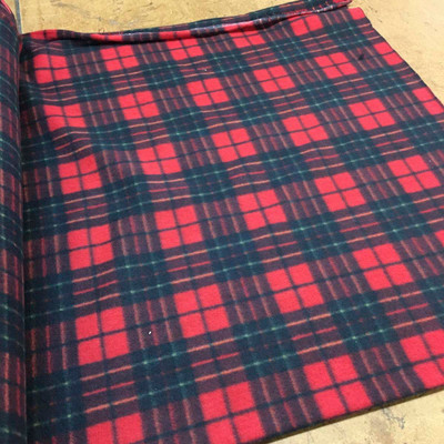 Red Plaid Heavy Fleece