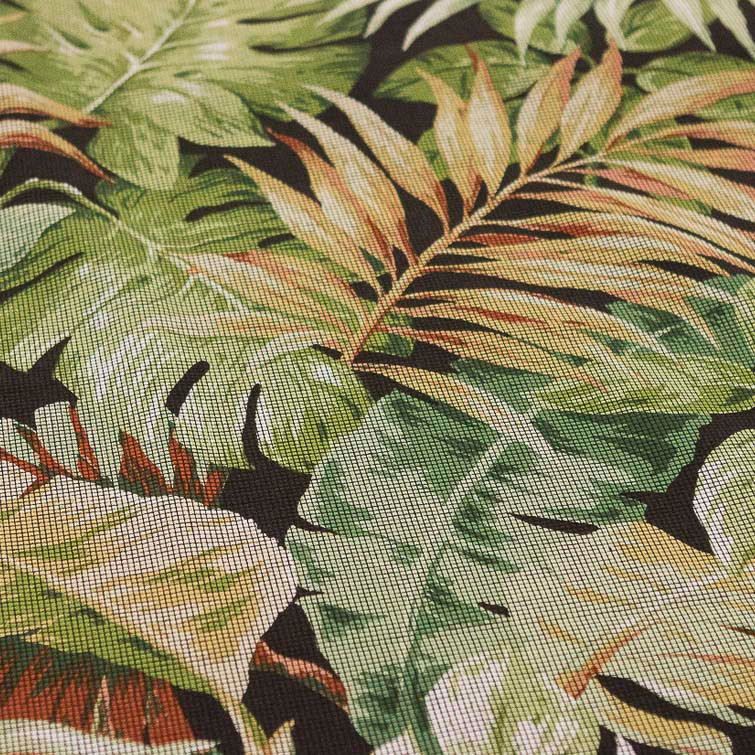 Yard Piece of Tropical Leaves Screen View Home Decor Fabric ...