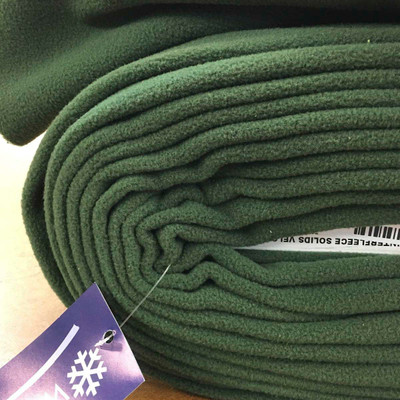 Solid Olive Fleece Fabric