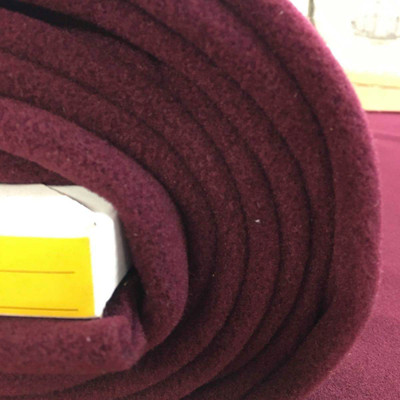 Burgundy Fleece Fabric.  Extra plush