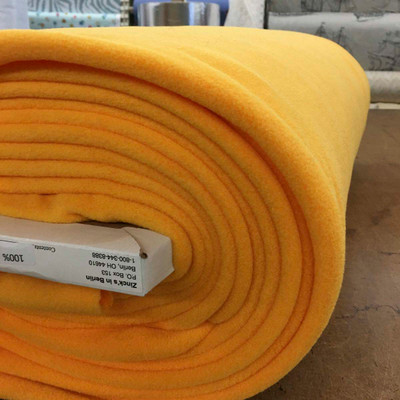 "60"" Ultra Thick Fleece Fabric in Sunflower Yellow"