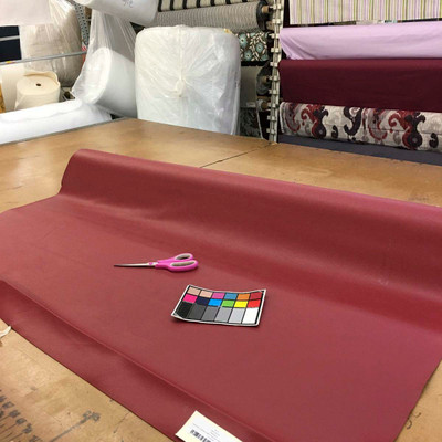 """Burgundy Faux Leather Vinyl Upholstery Fabric By The Yard 54""""W Thick Felt Back"""
